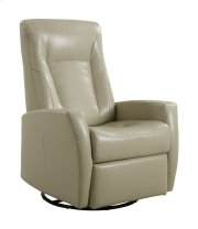 Emerald Home Conrad Swivel Glider Bonded Leather Stone U5073-04-09 Product Image