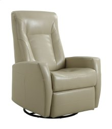 Emerald Home Conrad Swivel Glider Bonded Leather Stone U5073-04-09
