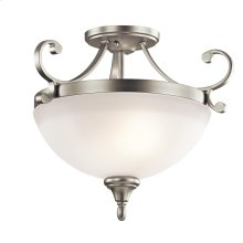 Monroe Collection Monroe 2 Light Semi Flush NI