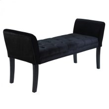 Chatham Bench in Black Velvet