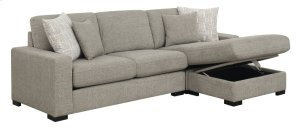 Emerald Home U4391-11-12-03-k Brahms Reversible Sectional W/storage, Gray