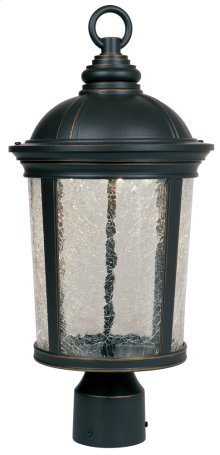"9"" LED Post Lantern in Aged Bronze Patina"