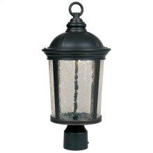 "9"" LED Post Lantern in Aged Bronze Patina"