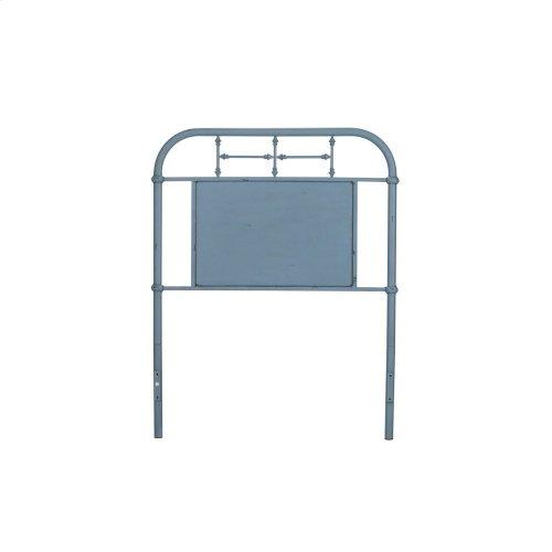 Twin Metal Headboard - Blue