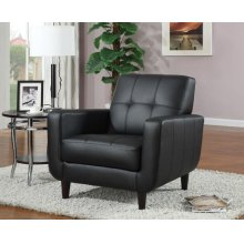 Casual Cappuccino Accent Chair