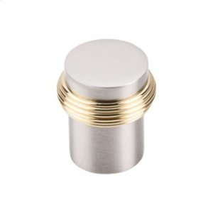 Split Finish Knob 1 1/8 Inch - Brushed Satin Nickel-Polished Brass