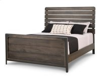 Portland Slatted Queen Bed with 30'' High Footboard
