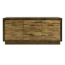 Caledonia 6-Drawer Reclaimed Pine Wood Dresser