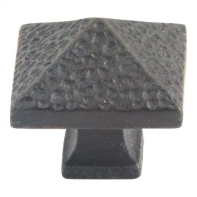 Craftsman Square Knob 1 1/4 Inch - Iron