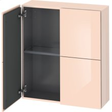 Semi-tall Cabinet, Apricot Pearl High Gloss Lacquer