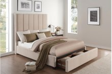 Queen Platform Bed with Storage Footboard