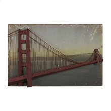 GOLDEN GATE BRIDGE IN SET ON PRINT