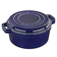 Staub Cast Iron 7-qt Braise & Grill, Dark Blue
