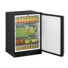 "24"" Solid Door Refrigerator Black Solid Field Reversible"