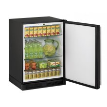 "24"" Solid Door Refrigerator Black Solid Field Reversible"
