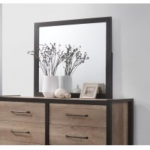 Edgewater Industrial Weathered Oak Mirror