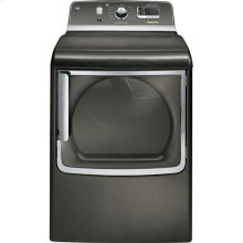 GE® 7.8 cu. ft. capacity gas dryer with stainless steel drum and steam