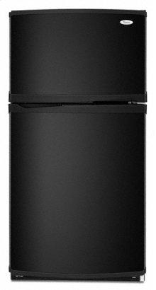 Black-on-Black 21.8 cu. ft. Top Mount Refrigerator