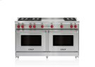 """60"""" Gas Range - 6 Burners and French Top Product Image"""