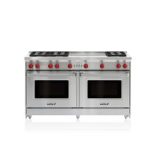 "60"" Gas Range - 6 Burners and French Top"