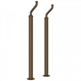 English Bronze Perrin & Rowe Pair Of Floor Pillar Legs Or Supply Unions