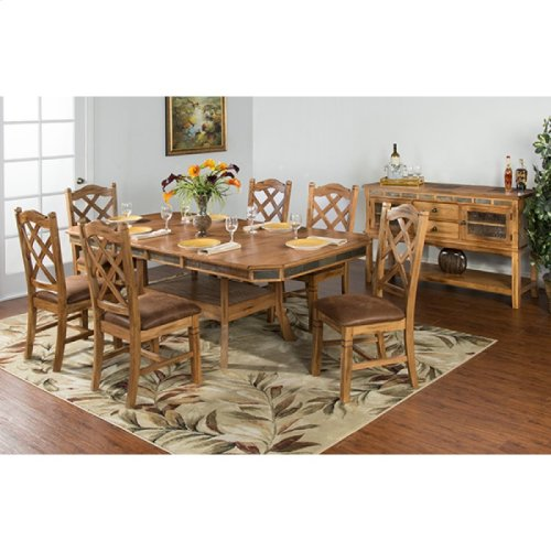 Sedona Adj. Height Dining Table W/ Double Butterfly Leaf
