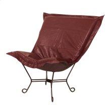 Scroll Puff Chair Avanti Apple Mahogany Frame