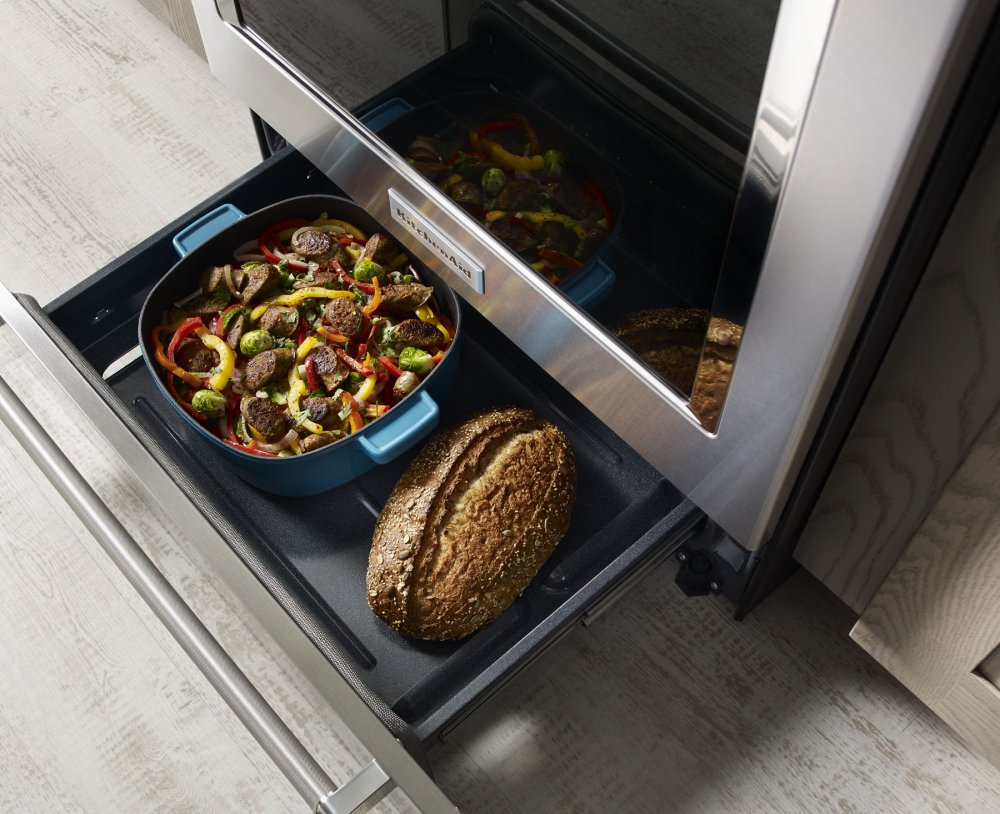 Kitchenaid 30 Inch 5 Element Electric Convection Slide In Range With Baking Drawer Stainless Steel