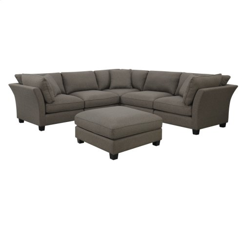 6 PC Set-3 Corners-2 Armless Chairs-1 Otto-w/3 Pillows Brown Zw6380-6