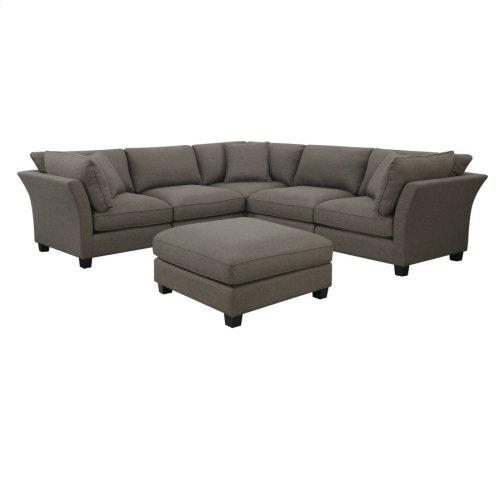 6 PC Set-3 Corners-2 Armless Chairs-1 Otto-w/3 Pillows Brown Zw6380-6