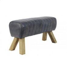 Bench 87x30x46 cm RAMY leather grey