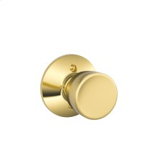 Bell Knob Non-turning Lock - Bright Brass