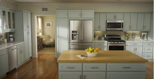 36-Inch Wide 4-Door French Door Refrigerator with Steel Shelves - 26 Cu. Ft.