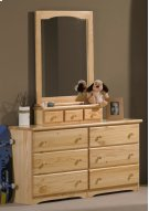 Ponderosa Double Dresser With Mirror Box With Mirror Product Image