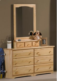 Ponderosa Double Dresser With Mirror Box With Mirror