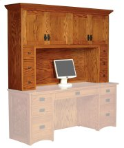 Prairie Mission Hutch Top with Drawers, Large Product Image