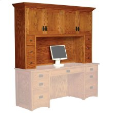 Prairie Mission Hutch Top with Drawers, 64""