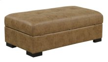 Abbott Collection-Ottoman-Saddle Brown