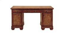 Oak Burl Pedestal Desk