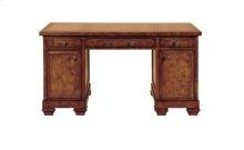 Oak Burl Pedestal Desk