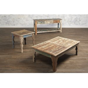 Rectangular Cocktail Table, End Table and Sofa Table Set
