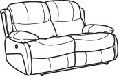 Amsterdam Leather Power Reclining Loveseat