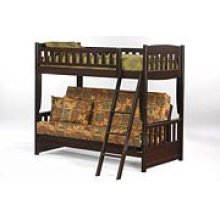 Cinnamon Futon Bunk in Dark Chocolate Finish