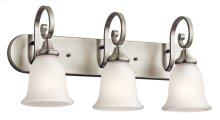 Monroe 3 Light Vanity Light Brushed Nickel