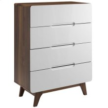Origin Four-Drawer Chest or Stand in Walnut White