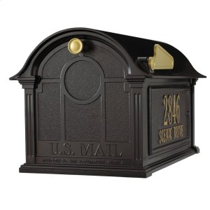 Balmoral Mailbox Side Plaques Package - Black Product Image