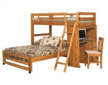 Heartland Twin over Full Loft Bed with Desk with options: Honey Pine, Twin over Full