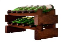 2 x 5 Bottle Magnum Modular Wine Rack (Stained)