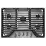 Whirlpool30 inch 5 Burner Gas Cooktop with EZ-2-Lift Hinged Cast-Iron Grates