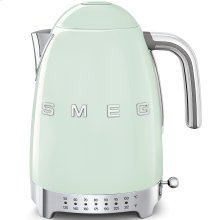 Smeg 50s Retro Style Design Aesthetic Electric Variable Temperature Kettle, Pastel Green